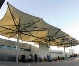 Model Tenda Membran Atau Canopy Membrane Depan kantor