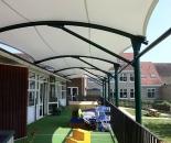 Model Tenda Membran Atau Canopy Membrane Teras Sekolah