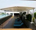 Model Tenda Membran Atau Canopy Membrane Kolam Renang