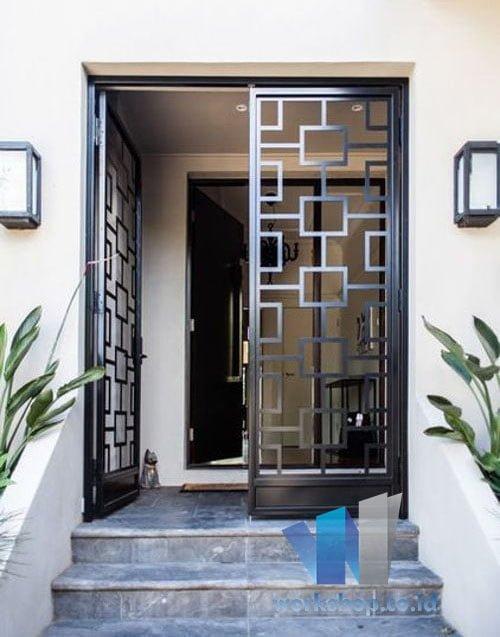 Harga Teralis Pintu Rumah Terbaru Modern