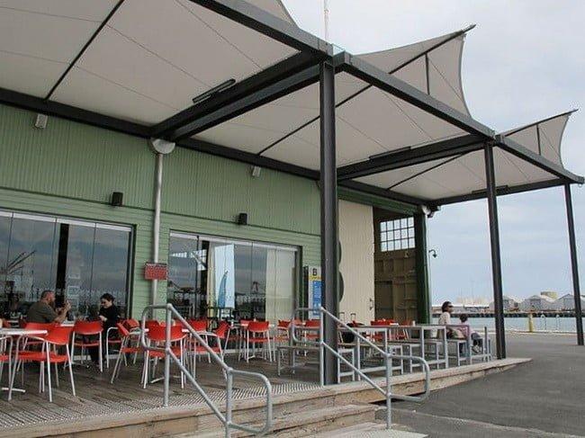 Desain Tenda Atap Membrane Cafe