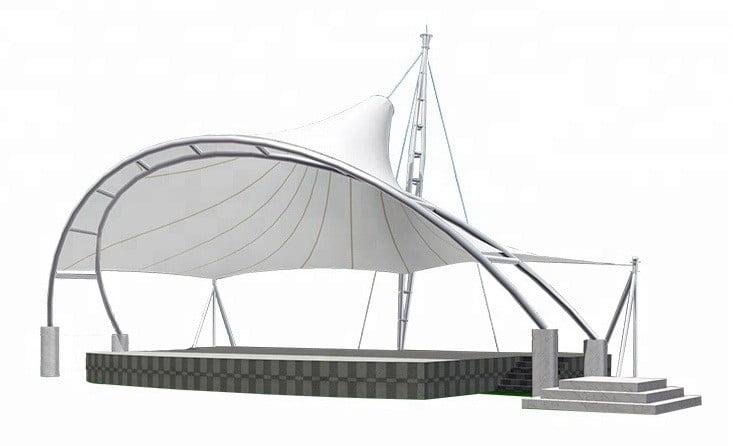 Sketsa Konsep Tenda Membrane