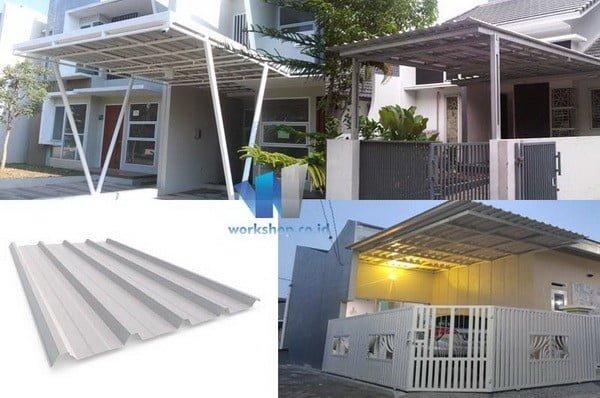 Material Pada Kanopi Rumah Atap Atap Spandek