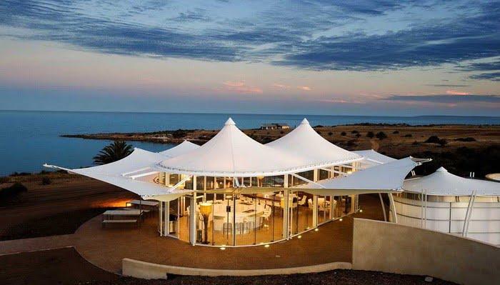 Desain Tenda Atap Membrane Outdoor