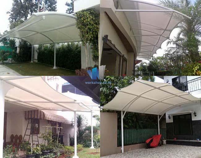 Tenda Membrane Canopy Garasi